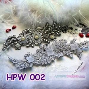 Lace Wedding Headpiece l Aksesoris Rambut Pengantin Wanita - HPW 002