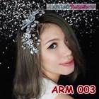 Aksesoris Sanggul Pesta Wedding Putih l Hiasan Rambut Pengantin-ARM003 2