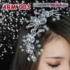 Aksesoris Sanggul Pesta Wedding Putih l Hiasan Rambut Pengantin-ARM003 4