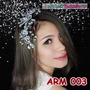 Aksesoris Sanggul Pesta Wedding Putih l Hiasan Rambut Pengantin-ARM003