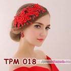 Aksesoris Rambut Pesta Pengantin l Tiara Wedding Merah Wanita -TPM 018 5