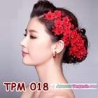Aksesoris Rambut Pesta Pengantin l Tiara Wedding Merah Wanita -TPM 018 1