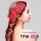 Aksesoris Rambut Pesta Pengantin l Tiara Wedding Merah Wanita -TPM 018 4