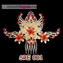 Sirkam Rambut Sanggul Emas l Aksesoris Rambut Kebaya Modern - SRE 001