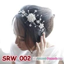 Sirkam Rambut Pesta l Aksesoris Tiara Rambut Sanggul Wedding- SRW 002