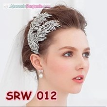 Sirkam Modern l Party Bun hair accessories Leaves