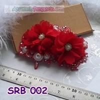 Sanggul pengantin Modern l Aksesoris Rambut Pesta Sirkam - SRB 002