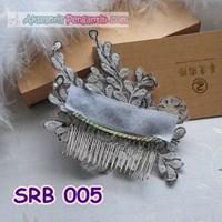 Aksesoris Sanggul Pengantin l Sirkam Rambut Bunga Pesta - SRB 005
