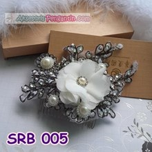 Bridal Bun accessories Hair Flowers Party Sirkam l