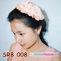 Hairpieces Rambut Pesta Peach l Headpiece Sirkam Sanggul Modern-SRB008