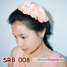 Hairpieces Rambut Pesta Peach l Headpiece Sirkam S