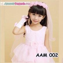 Aksesoris Rambut Pesta Anak l Flower Crown Slayer Pesta Pink - AAM 002