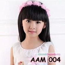 Mahkota Bunga Anak l Aksesoris Flower Crown Rambut Anak Pink- AAM 004