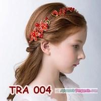 Jual Tiara Rambut Pesta Merah l Aksesoris Rambut Anak Putri Modern -TRA 004