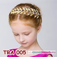 Jual Tiara Rambut Pesta Emas Anak l Aksesoris Tiara Wedding Modern -TRA 005