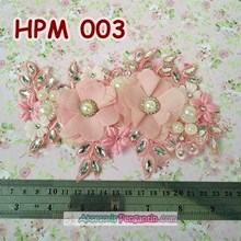 Aksesoris Headpiece Rambut Pesta Wanita- Hairpiece Wedding Pink-HPM003