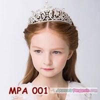 Jual Mahkota Pesta Anak l Aksesoris Crown TiaracRambut Anak Modern -MPA 001