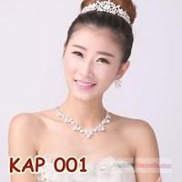 Aksesoris Kalung Pengantin l Kalung Anting Pesta Wanita - KAP 001
