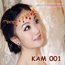 Kalung Pesta Pengantin Merah l Set Perhiasan Aksesoris Wedding-KAM 001