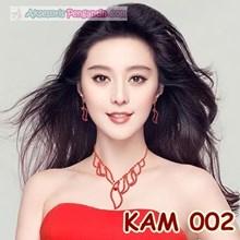 Aksesoris Kalung Wanita Warna merah l Set Perhiasan Wedding - KAM 002