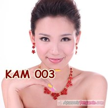 Necklace Earring bridal party Wedding Accessories-Modern l KAM 003