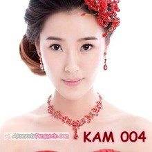Necklace Earring bridal party Wedding Accessories Red l ladies THURS 004