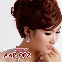 Jual Aksesoris Anting Pesta Pengantin l Perhiasan Wanita Putih - AAP 002