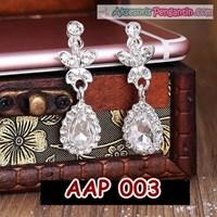 Jual Aksesoris Anting Pesta Wedding Putih-Perhiasan Pengantin Wanita-AAP003