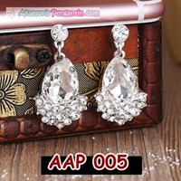 Jual Aksesoris Anting Pesta Pengantin Putih l Perhiasan Wedding - AAP 005