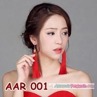Jual Aksesoris Anting Pesta Merah Cina l Perhiasan Pengantin Wanita -AAR001