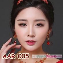 Aksesoris Anting Pesta PreWedding Merah l Perhiasan Wanita - AAR 005a