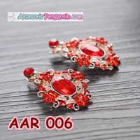 Distributor Accessories bridal party Earrings Red l Ladies Jewelry-AAR 006 3