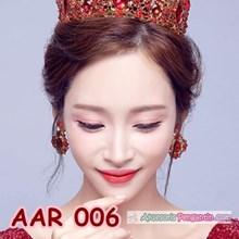 Aksesoris Anting Pesta Pengantin Merah l Perhiasan Wanita - AAR 006