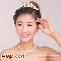 Paket Aksesoris Wedding l Perhiasan Mahkota Kalung Pengantin - HMK 001