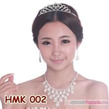 Paket Aksesoris Wedding l Perhiasan Mahkota Kalung Pengantin - HMK 002