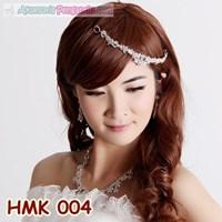 Paket Aksesoris Pengantin l Perhiasan Mahkota Kalung Wedding - HMK 004