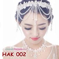 Paket Aksesoris Pesta Wedding l Perhiasan Pengantin Modern - HAK 002