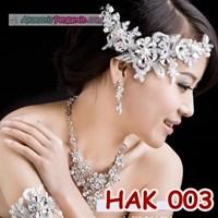 Perhiasan Pesta Wedding l Paket Aksesoris Pengantin Modern - HAK 003