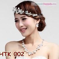 Paket Perhiasan Kalung Tiara l Aksesoris Wedding Pengantin - HTK 002