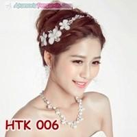 Paket Perhiasan Pesta Wedding-Aksesoris Kalung Tiara Pengantin-HTK 006