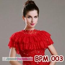 Bolero Pesta Merah l Cardigan Wedding l Aksesoris Pengantin - BPM 003