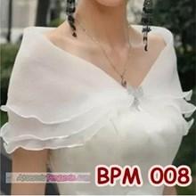Bolero Pesta Wedding Wanita l Aksesoris Cardigan Pengantin - BPM 008