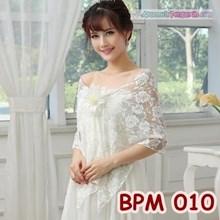Bolero Pesta Putih l Cardigan Wanita l Aksesoris Wedding - BPM 010