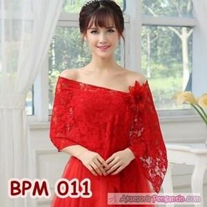 Red Wedding Bolero Cardigan L Parties Bridal Accessories BPM 011