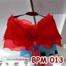 Bolero Pesta Wedding Merah l Aksesoris Cardigan Pengantin - BPM 013
