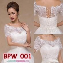 Bolero Lace Pesta Pengantin Wanita Modern l Cardigan Wedding - BPW 001