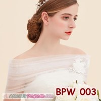 Bolero Pesta Pengantin Wanita Modern l Cardigan Wedding Putih- BPW 003