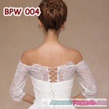 Bolero Pesta Pengantin Wedding Modern l Cardigan Lace Wanita- BPW 004