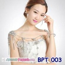 Bolero Pesta Crystal - Aksesoris Cardigan Wedding Pengantin - BPT 003
