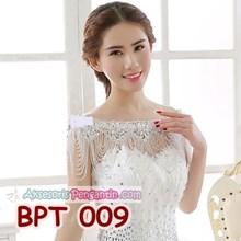 Bolero Pesta Mutiara Cristal Pengantin- Cardigan Lace Wedding - BPT 009